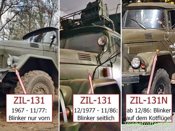 Baujahr und Unterschiede ZIL-131 und ZIL-131N am Seitenblinker erkennen