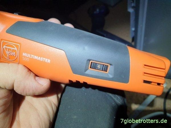 Test: des Fein MultiMaster 500 auf höchster Leistungsstufe