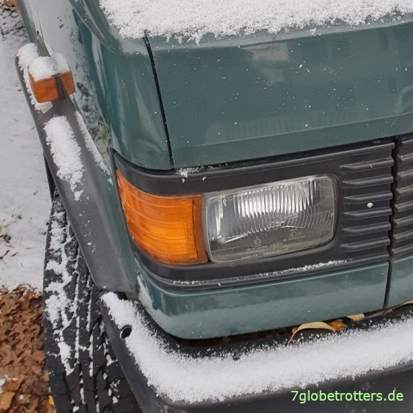 Wohnmobil im Winterschlaf: Erster Schnee am 01.12.2020