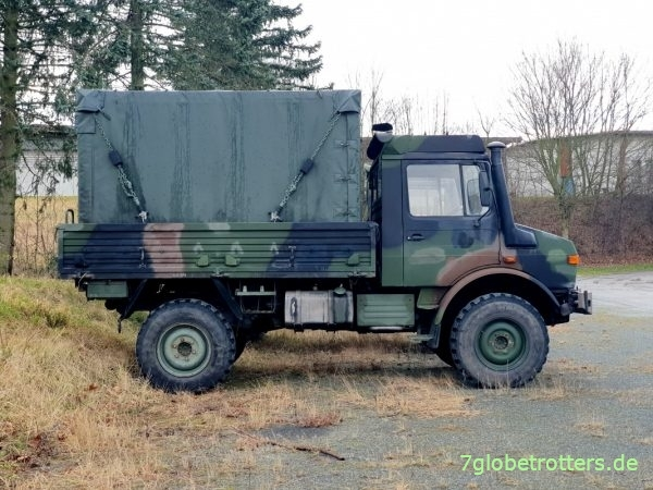 Dornier-Shelter kaufen: Unimog mit abgeplanter Alu-Kabine FM1