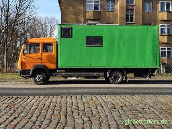Mercedes LK 917 Wohnmbil 4x2 mit Fernfahrerhaus und Koffer ohne Allrad