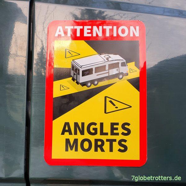 Toter Winkel Aufkleber Bus für Wohnmobile selber machen
