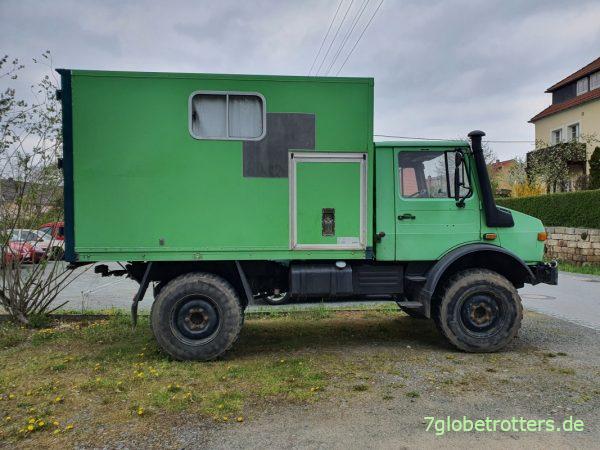 Unimog U 1300 L Wohnmobil mit Koffer