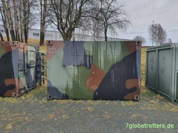Zeppelin-Shelter FM1 der Bundeswehr zu verkaufen