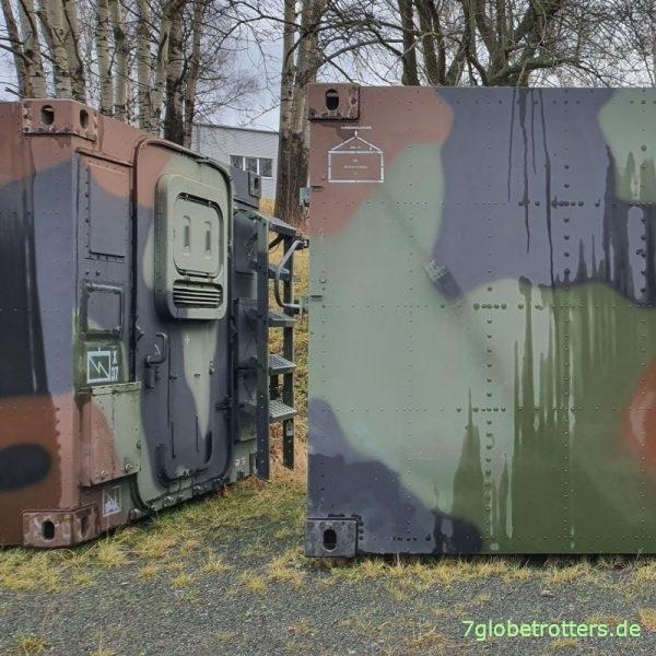 Zeppelin-Shelter der Bundeswehr, Containerecken FM1 zur Befestigung auf LKW