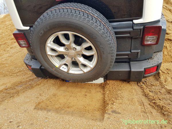 Am Jeep Wrangler fehlt Böschungswinkel