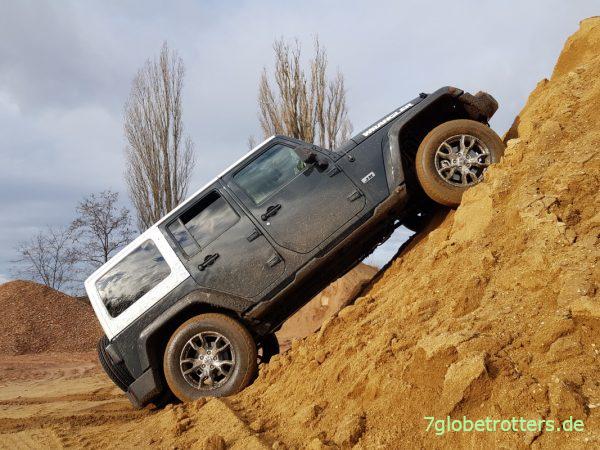 Mein Jeep Wrangler ohne Differentialsperren