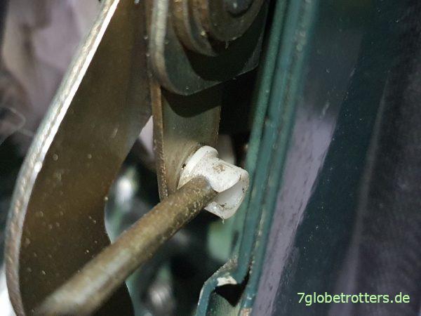 Kunststoffnippel für die Arretierung der Schließstange