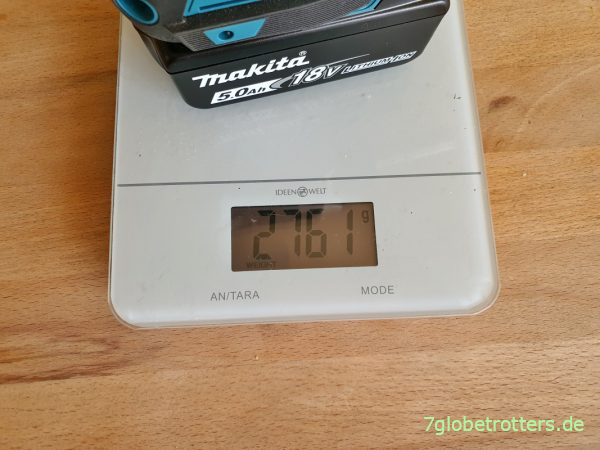 Gewicht des Makita Akku-Schlagschraubers DTW701