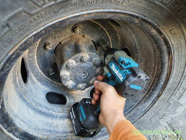 Reifenwechsel mit dem Makita Akku-Schlagschrauber 18V
