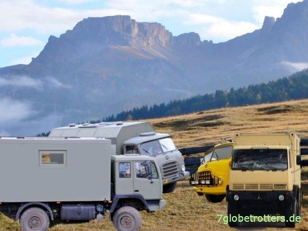 Gefunden mit der besten Stellplatz-App: Wagenburg aus Steyr Expeditionsmobilen