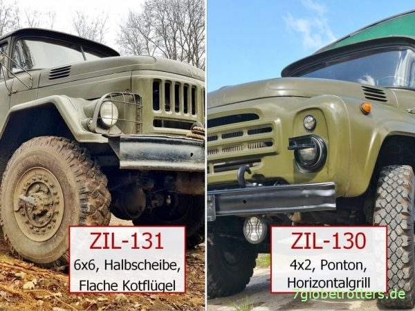 Vergleich Fahrerhäuser ZIL-131 und ZIL-130