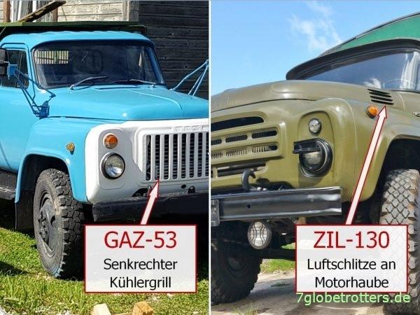 Vergleich von GAZ-53 und ZIL-130