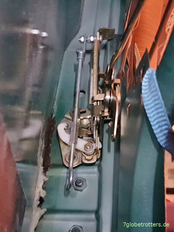 Eingebautes Türschloss und Schließmechanismus Schiebetür Mercedes 711