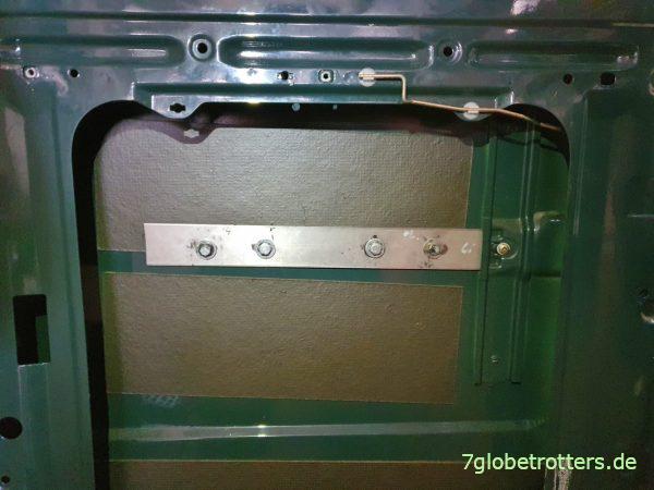 Originale Schalldämmung der Türen im Mercedes Kastenwagen