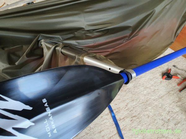 Kajak-Persenning als Regenverdeck auf dem Gumotex Seawave selbst bauen