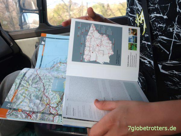 Reiseführer Wildswimming Spanien und Michelin Atlas