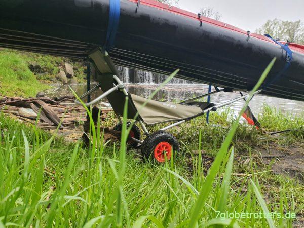 Bootswagen Eckla Beach-Rolly mit Sitzverlängerung im Test