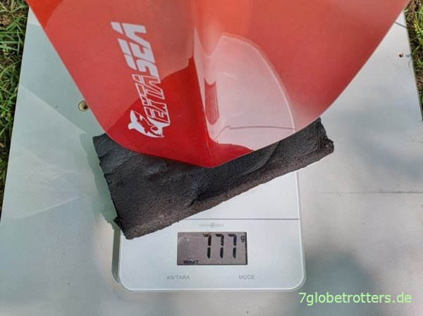 Gewicht Kajak-Paddel Extasea Pro Tour Carbon Vario 240 cm