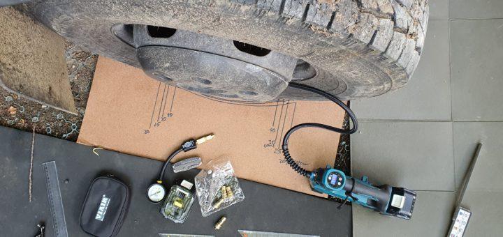 Luft aufpumpen mit dem Makita Akku-Kompressor