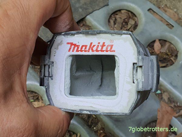 Makita Akku-Exzenterschleifer 18V-125 mm, Staubfangbecher