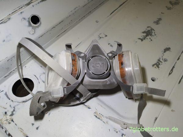 Atemschutzmaske 3M für den Makita Akku-Exzenterschleifer 18V-125 mm
