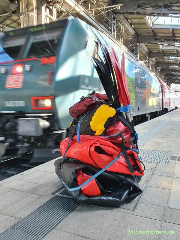 Teilbarkeit der Kajak-Paddel für leichteren Transport