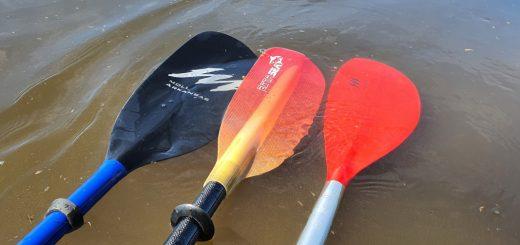 Test Kajak-Paddel Moll Playa, Moll Arkansas und Extasea Pro Tour Carbon Vario