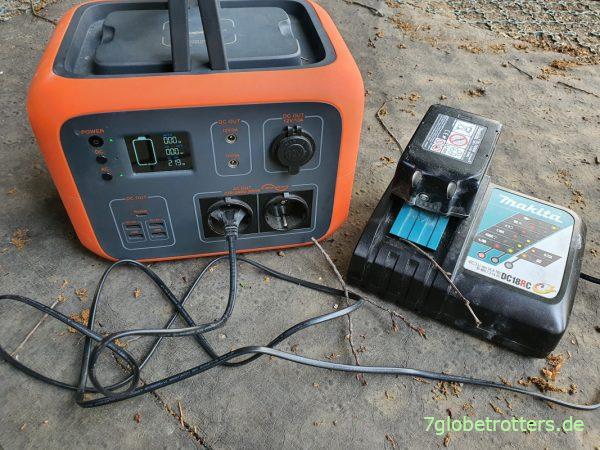 Testbericht Makita Akku-Exzenterschleifer 18V, Ladezeit an der Akkubox