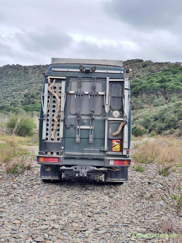 Traktion mit dem 4x2-Offroad-Camper
