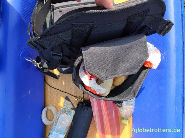 Praktischer Rucksack am Sitz im Verano California Duo im Test