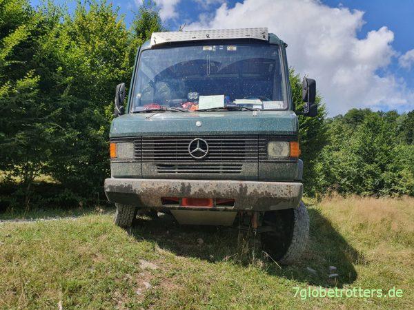 Diagonalverwindung beim Kastenwagen ohne Stabi (Mercedes 711)