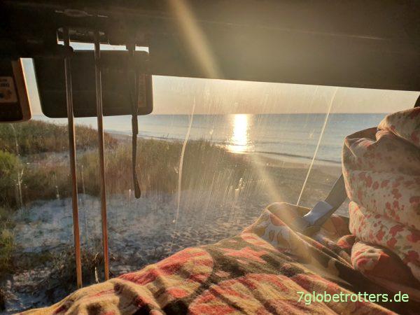 Hitzeschutz fürs Wohnmobil, Sonnenaufgang am Schwarzen Meer