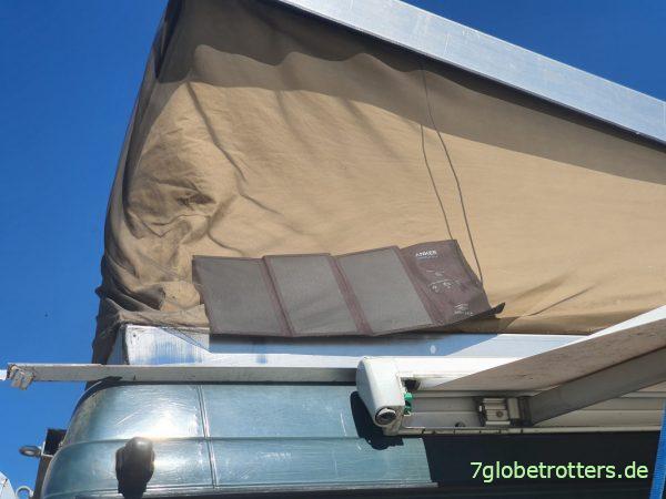 Kleine Solaranlage für autarke Stromversorgung im Wohnmobil
