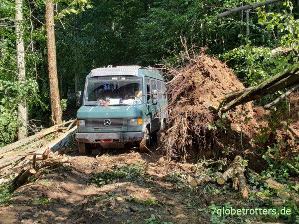 Nachteile fehlender Traktion der Vorderachse beim 4x2-Camper
