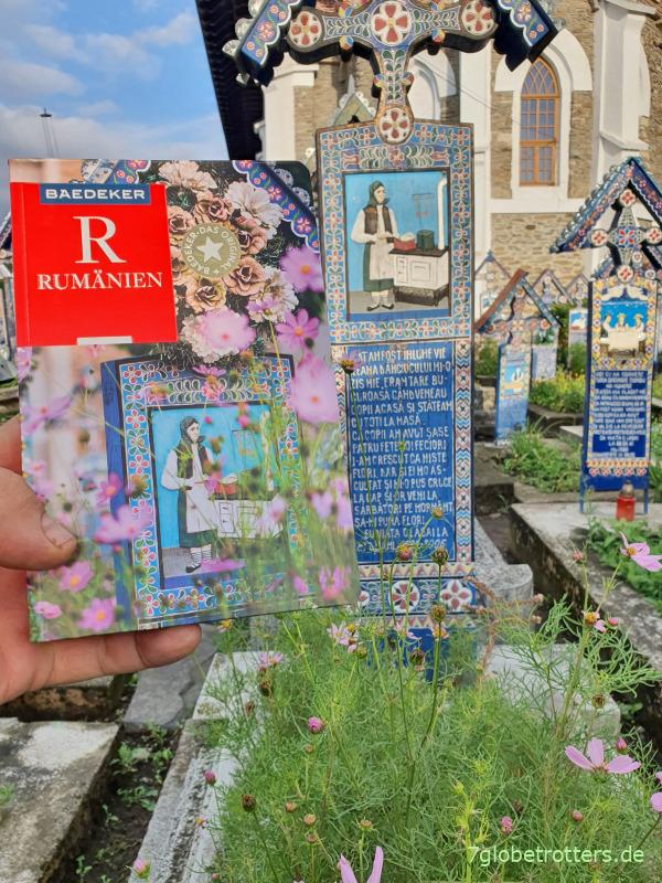 Reiseführer Baedeker Rumänien auf dem lustigen Friedhof Şapanta