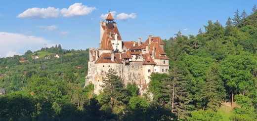 Rumänien Dracula-Schloss Bran im Abendlicht