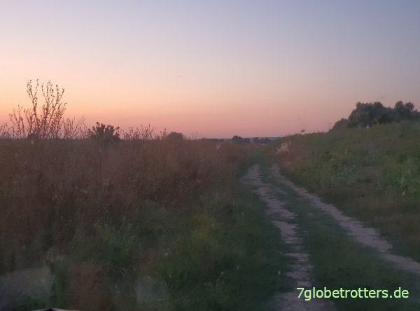 Sonnenuntergang am Stellplatz