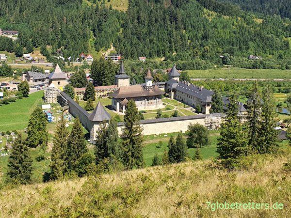 Rumänien Moldaukloster Sucevița von oben