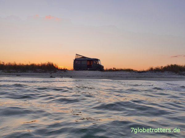 Fahrt zum perfekten freien Wohnmobil-Stellplatz am Schwarzen Meer in Rumänien