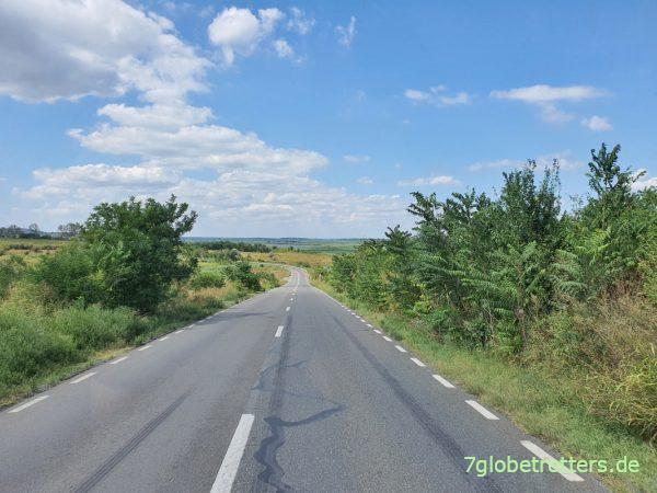 Anreise von Donaudelta zur Autofähre I.C. Brătianu - Galaţi über die Donau
