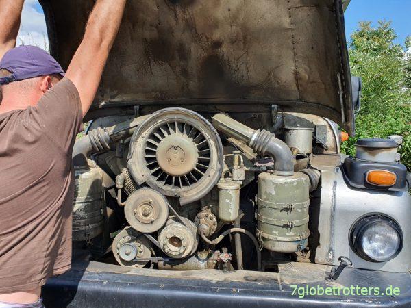 V8-Dieselmotor des Tatra 148