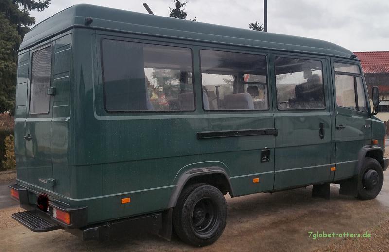 Fahrzeugzustand des MB 711 D Fensterbus bei Abholung