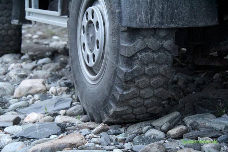 Reifen auf dem Expeditionsmobil: Continental MPT 80
