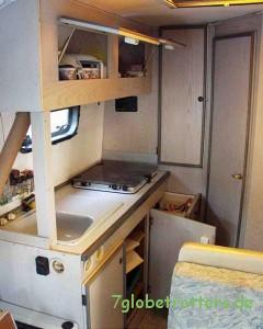 Küche im Wohnmobil MB 508 D