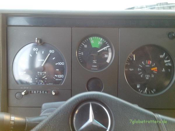 Drehzahl vor Achsumbau: 2.500 Umdrehungen bei 80 km/h